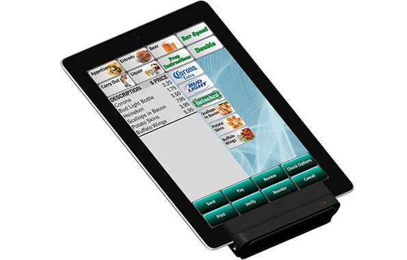 Digital Dining iPad with Credit Card